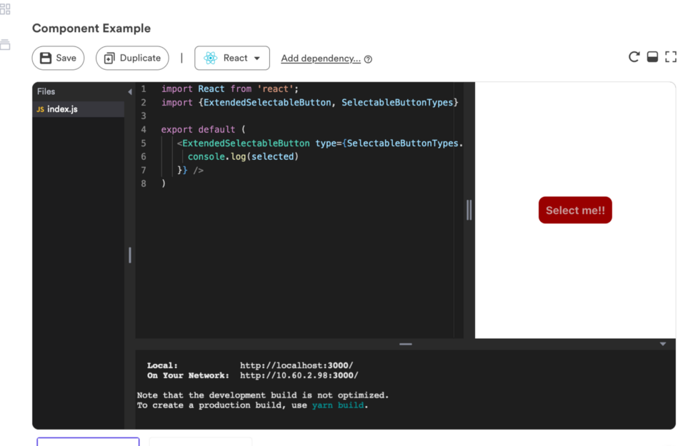 Screenshot of the component as seen on Bit's component hub