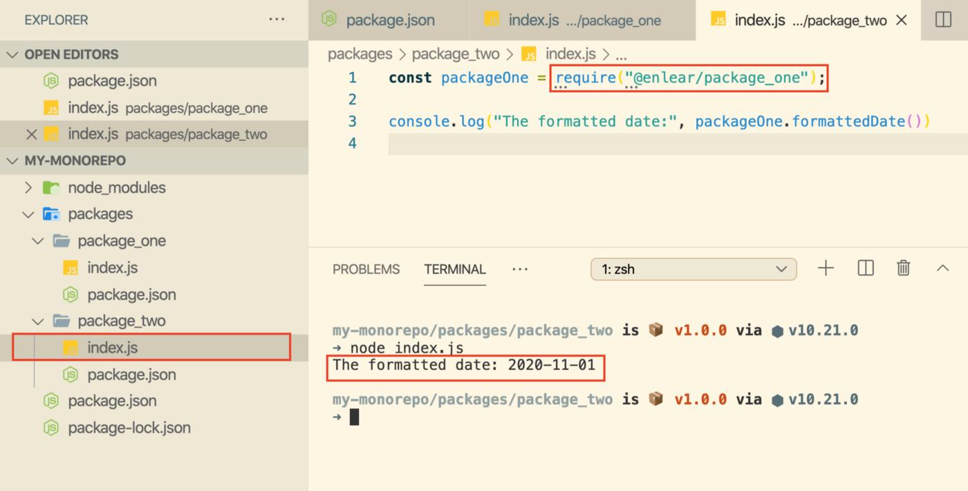 Благодаря рабочим областям стало возможным совместное использование кода между пакетами. Источник: Bits and Pieces