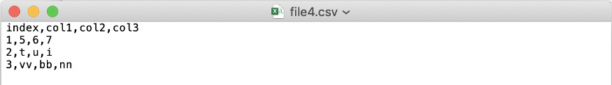CSV файл