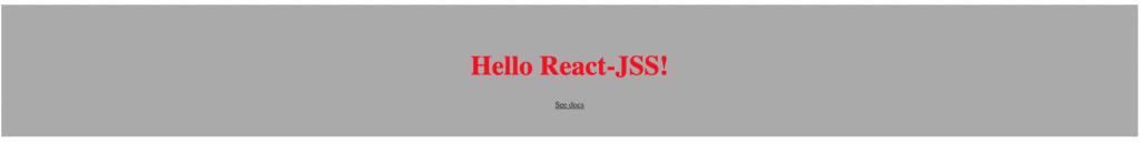 code output react-jss