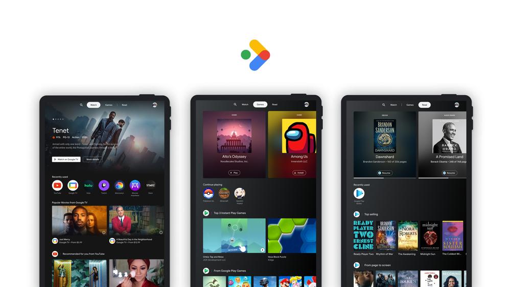 Entertainment Space. Google TV, но для планшета