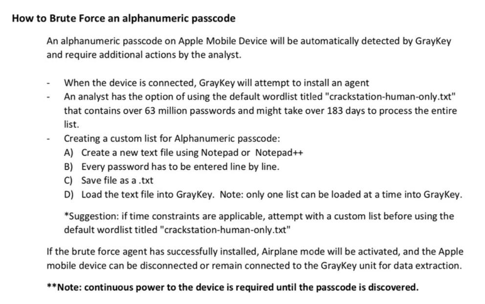 Инструкция GrayKey