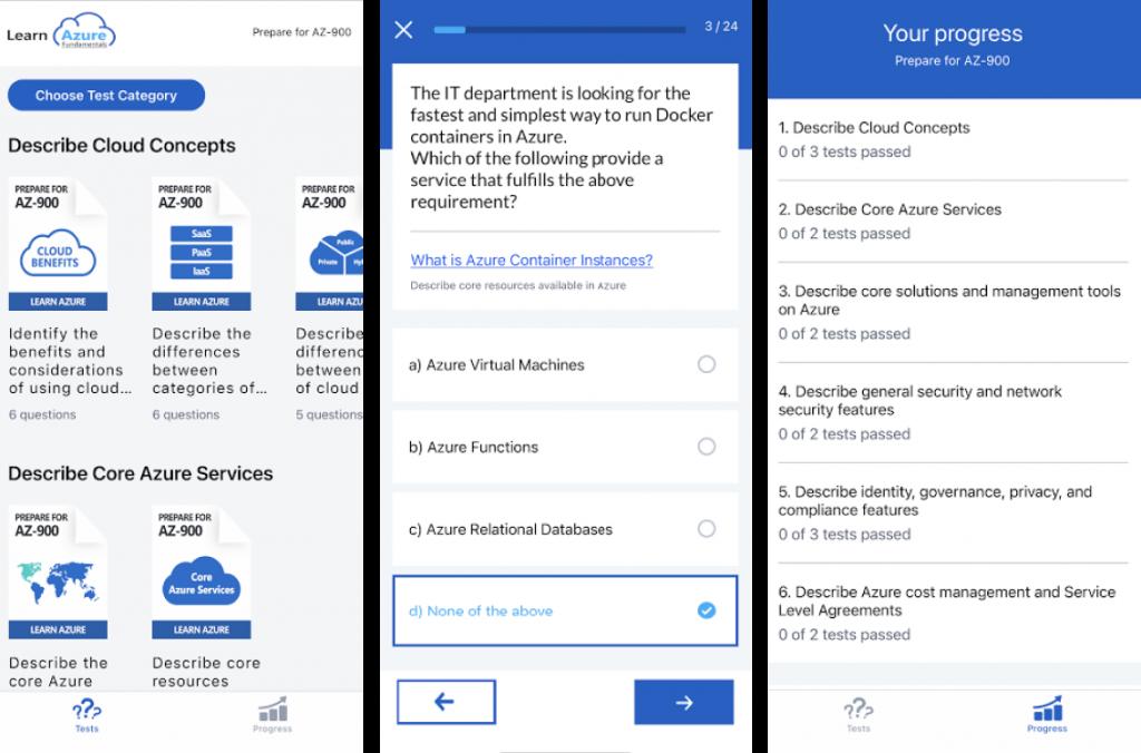 Приложение Learn Azure Fundamentals