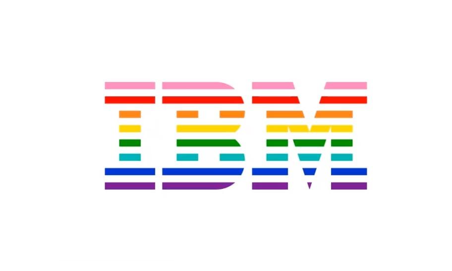 Лого IBM в честь Pride Month в 2018 году