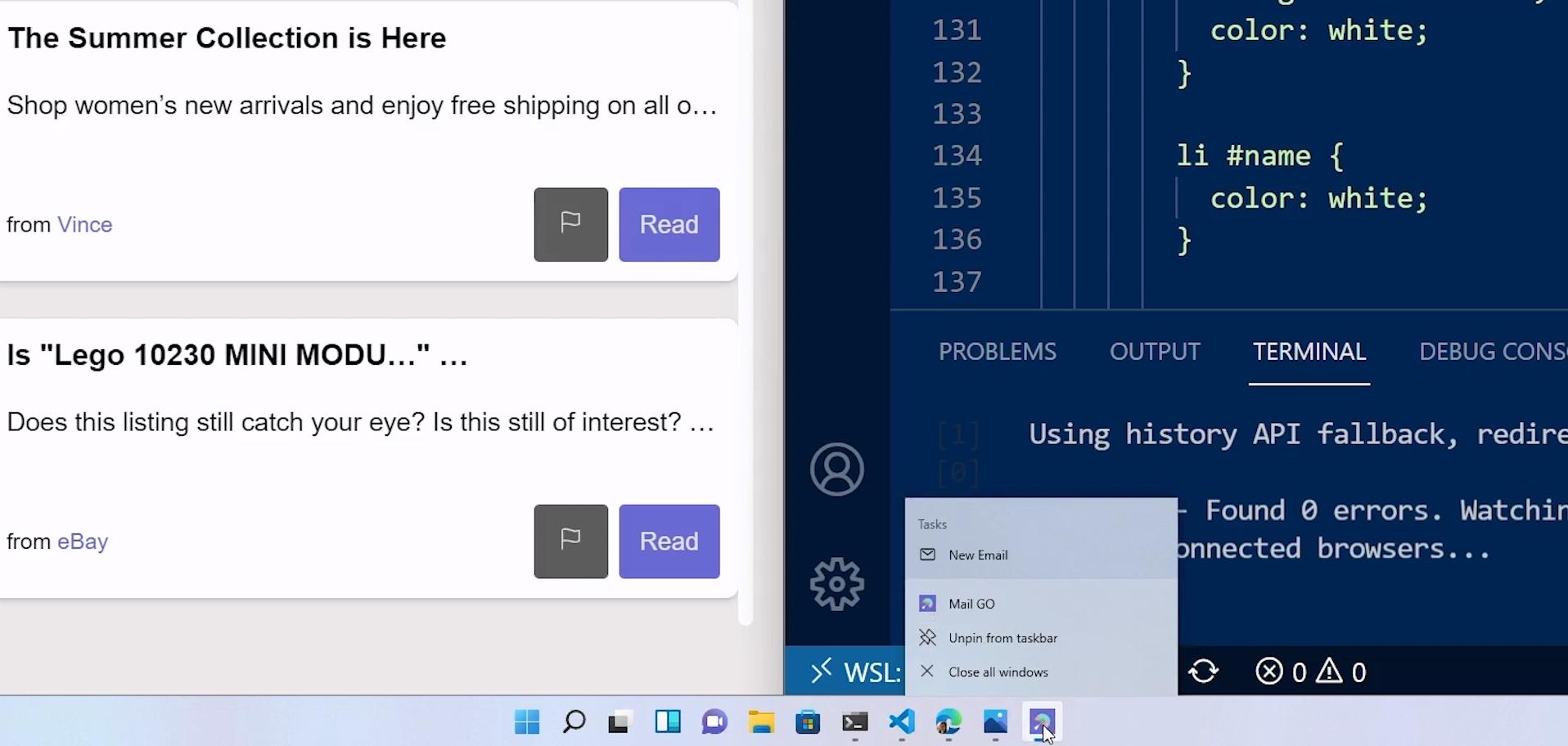 ярлыки прогрессивных веб-приложений, интегрированные в Windows