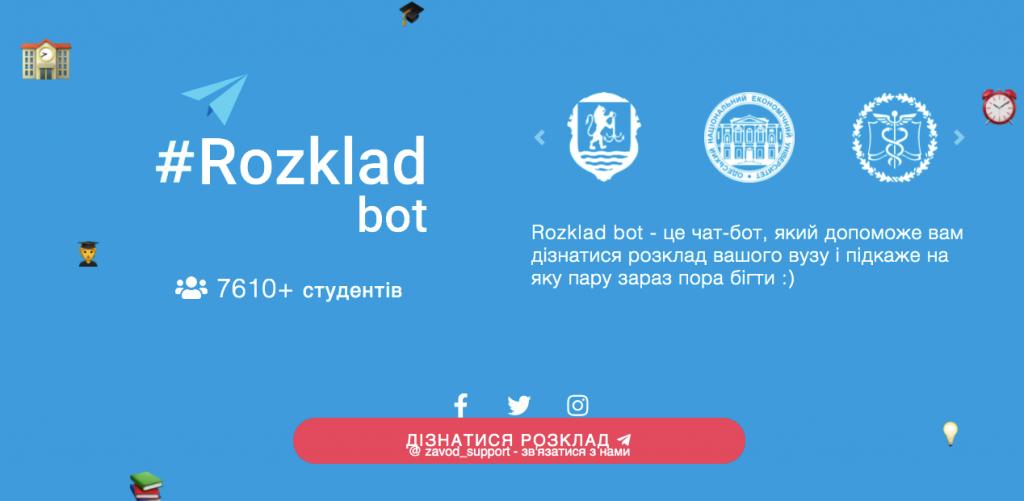 Сайт Rozklad_bot