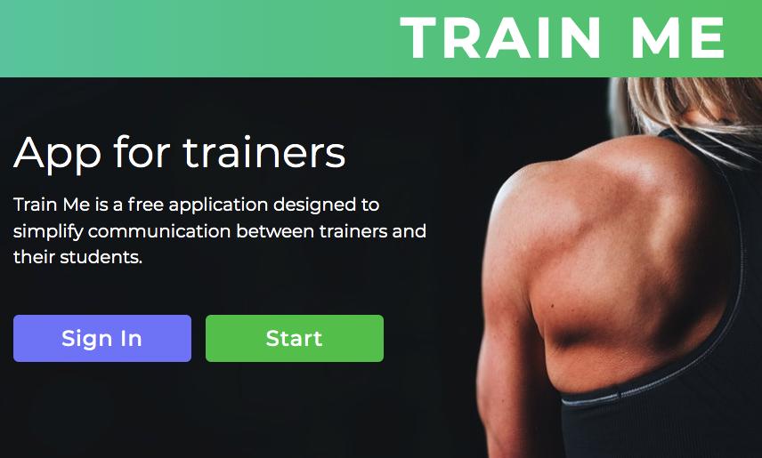Приложение Train Me удобно и для тренера, и для подопечного