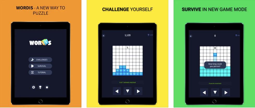 Приложение Wordis Puzzle может использоваться как игровой способ расширения словарного запаса