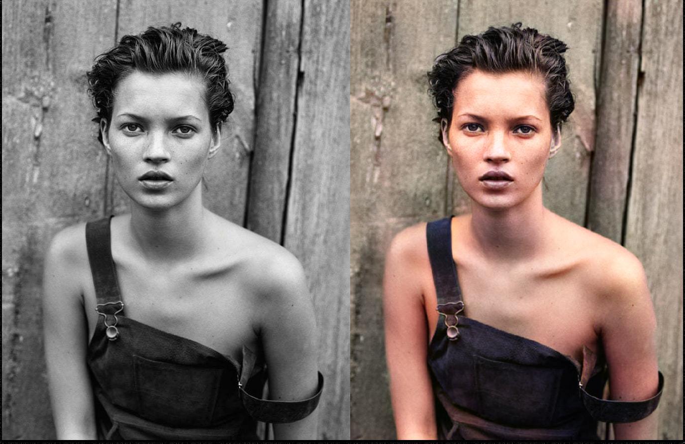 Бот превращает черно-белые фотографии в цветные