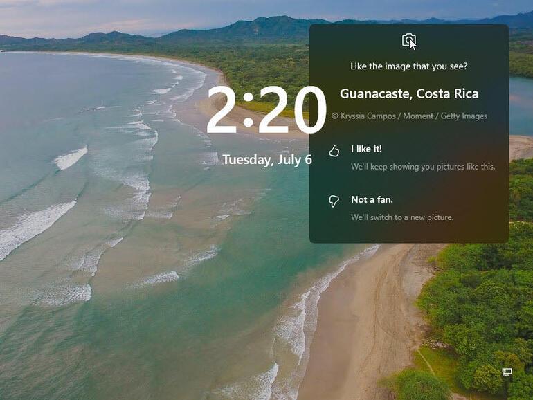 На экране блокировки теперь отображаются только календарь, почта или погода, а на заднем плане — изображение