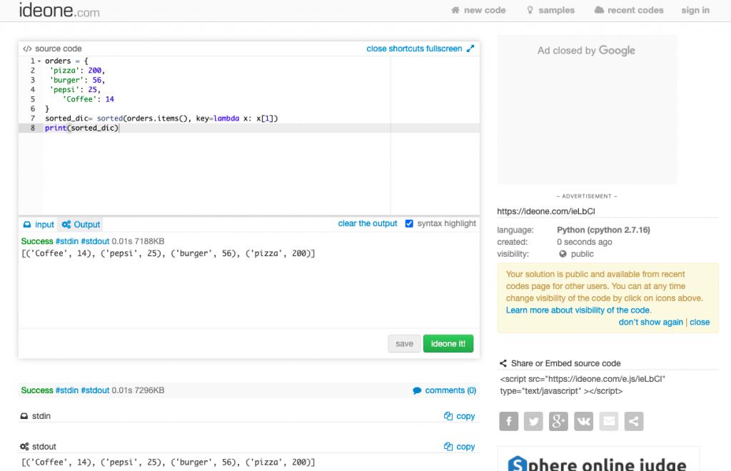 Бесплатный мультиязычный онлайн-компилятор Ideone