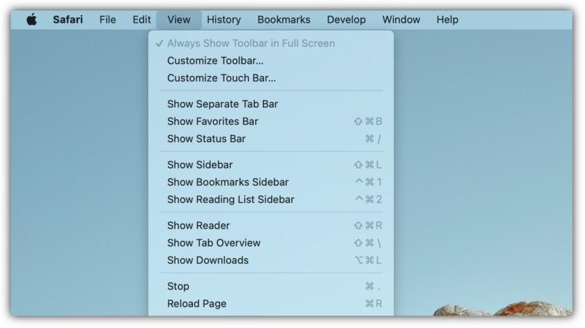 Отмена редизайна Safari в macOS Monterey Beta 3
