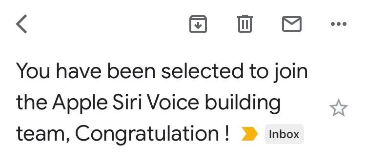 Твит участника команды Apple Siri Voice_2