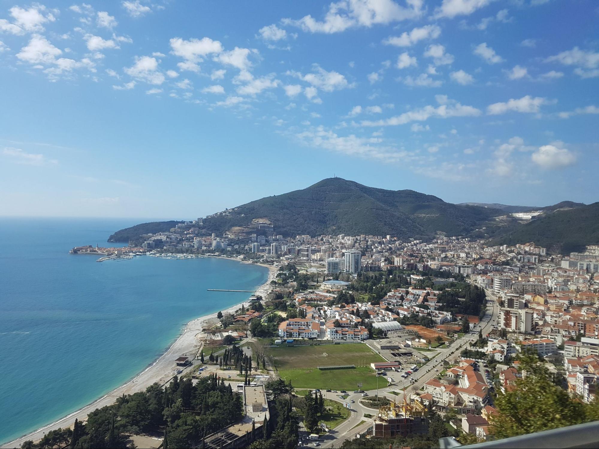 Черногория, вид на Будву