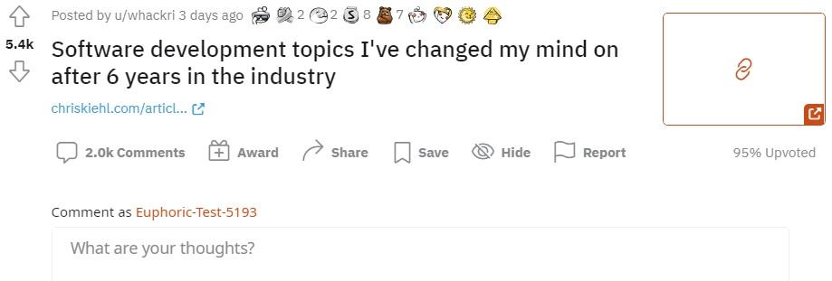 Пост на Reddit