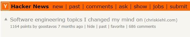 Пост разработчика на Hacker News