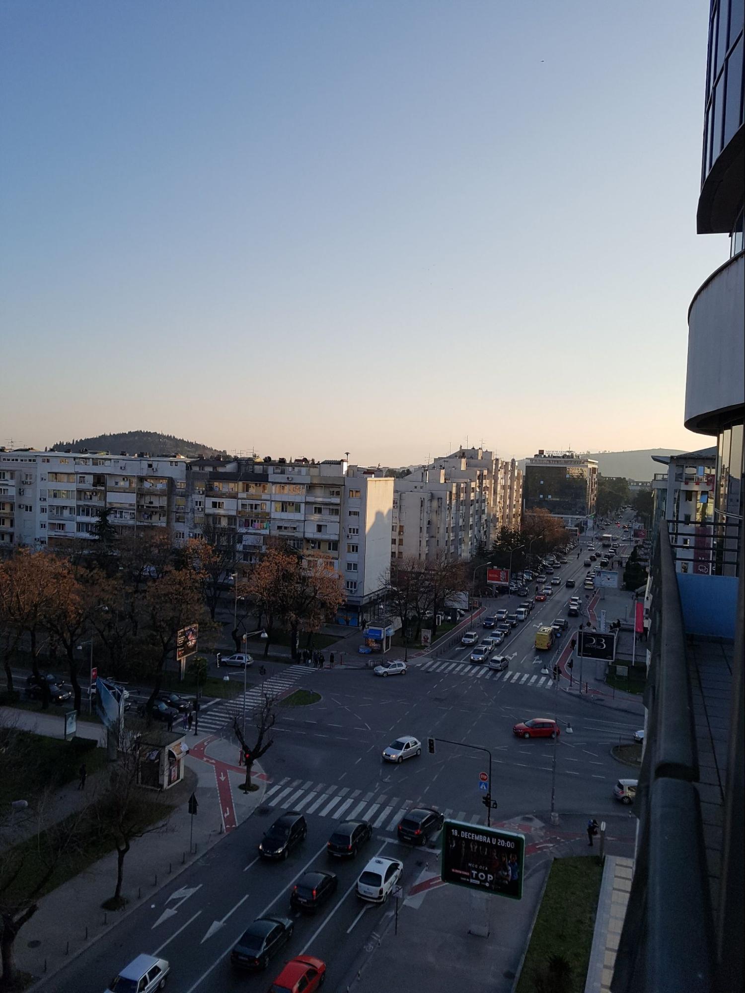 Вид с балкона квартиры в Подгорице