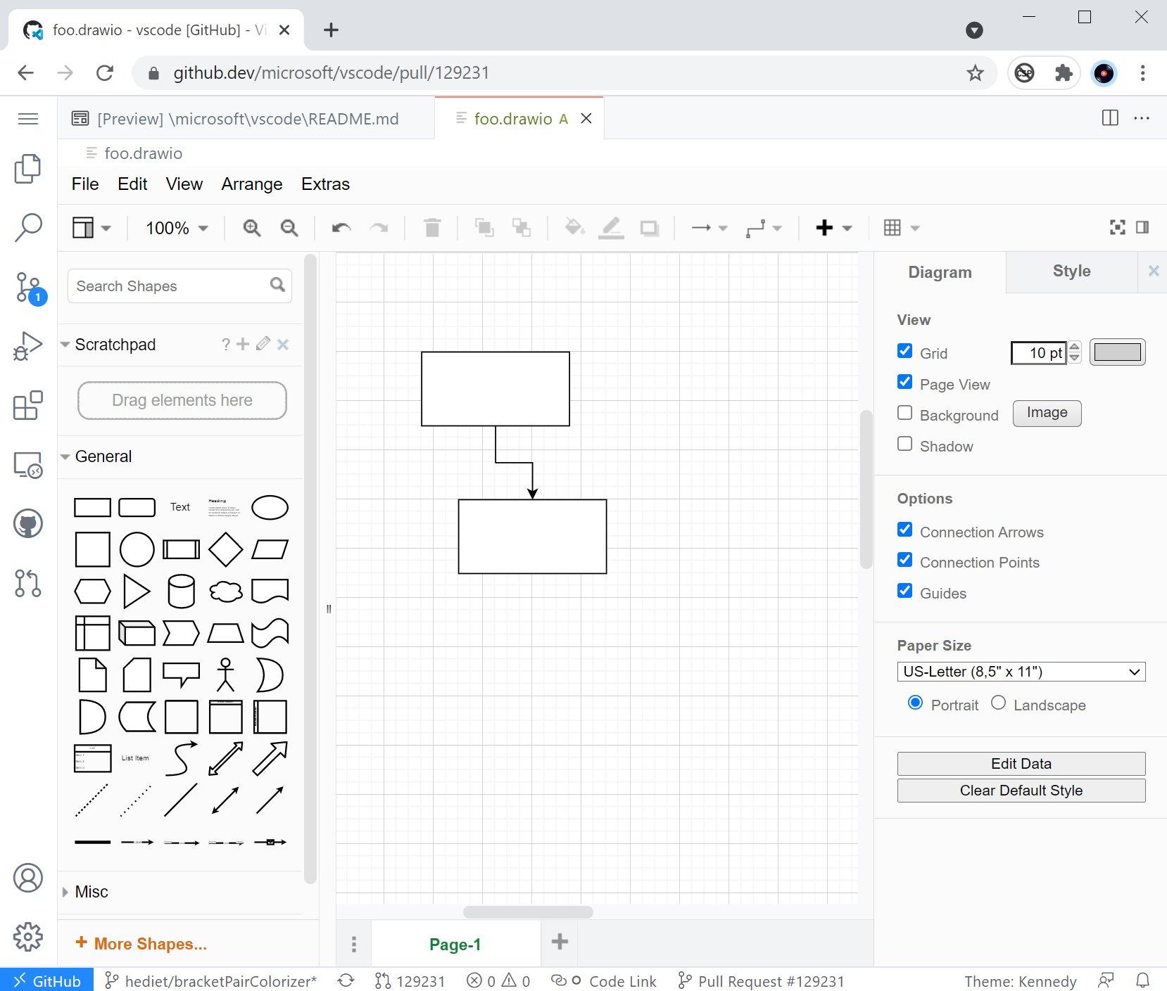 Работа с диаграммами в VS Code