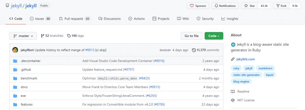 Пример проекта на GitHub из коллекции GitHub Pages