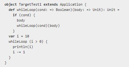 Пример реализации call-by-name на Scala Источник: https://www.scala-lang.org/old/node/138