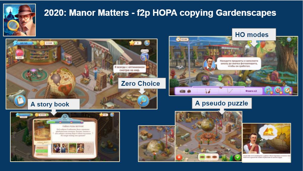 2020 год ознаменовался выходом Manor Matters, первой f2p HOPA от Playrix.