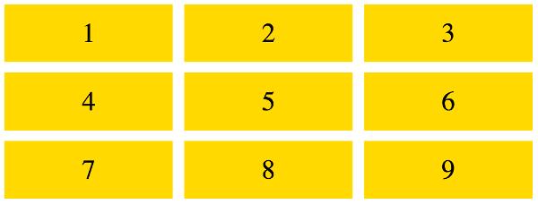 Отступы между элементами в сетке