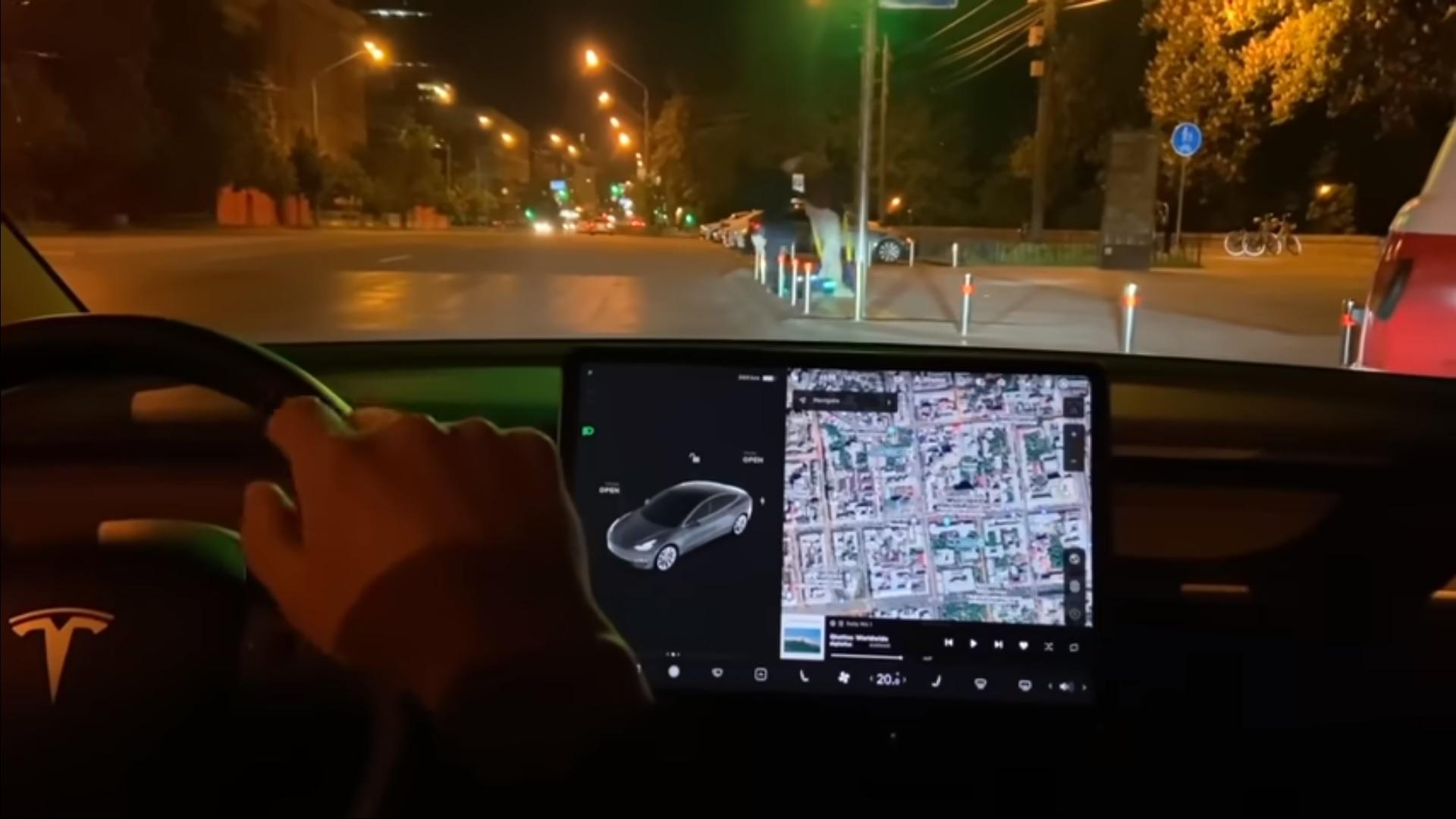 Интерфейс Full Self-Driving