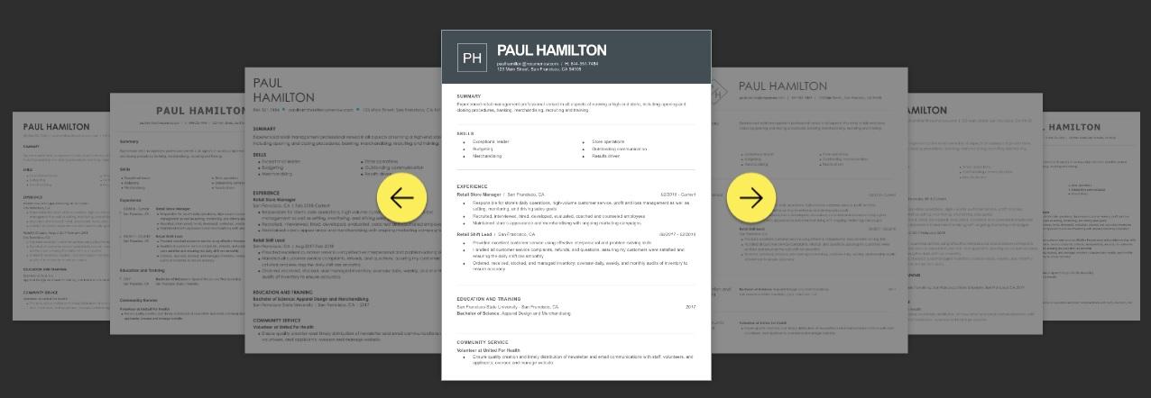 Создание резюме в Resume-now