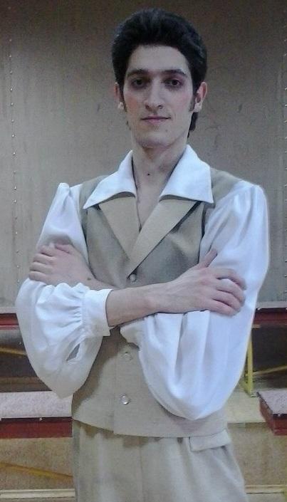 Семен во время работы в музыкальном театре