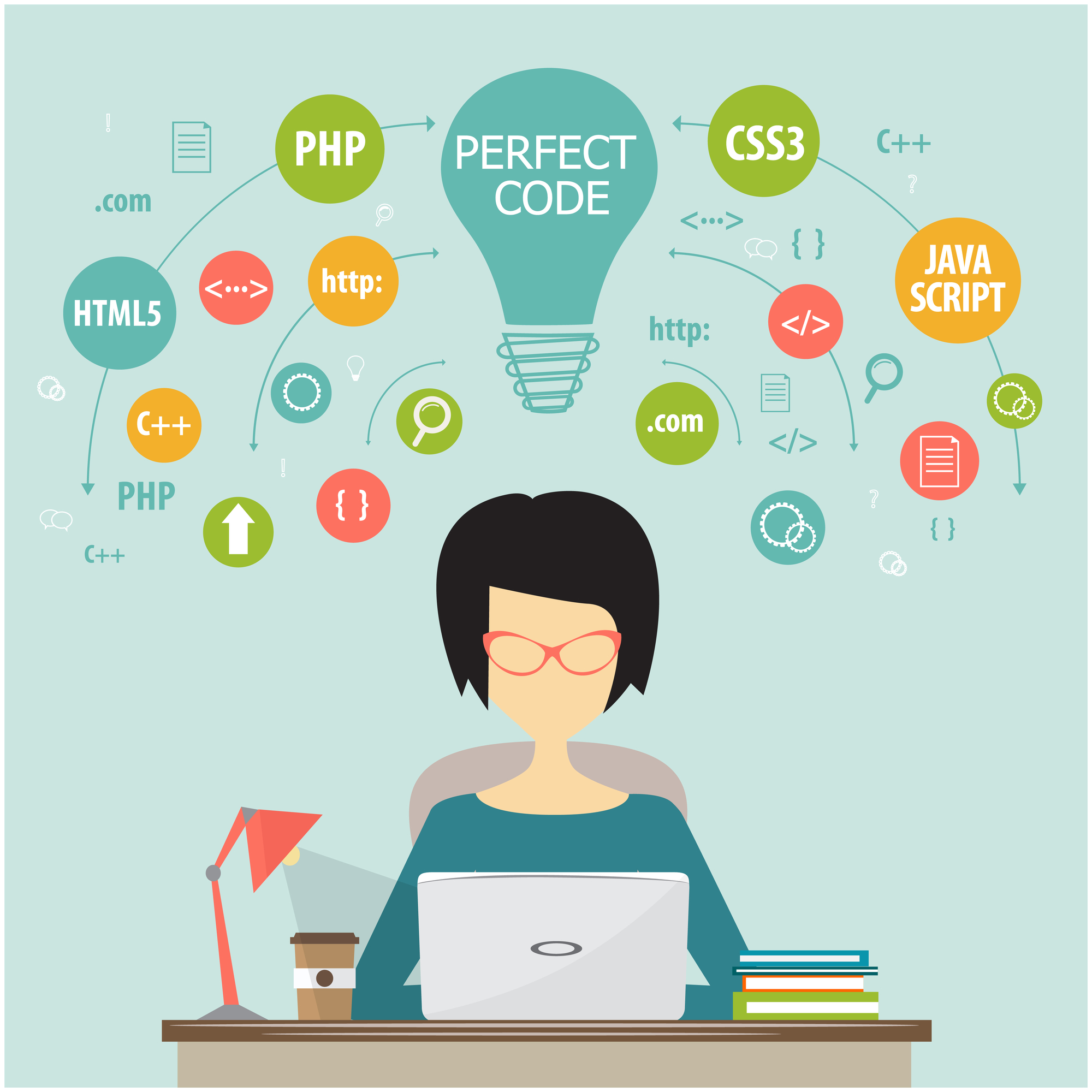 Девушка-программист — иллюстративный материал / Depositphotos