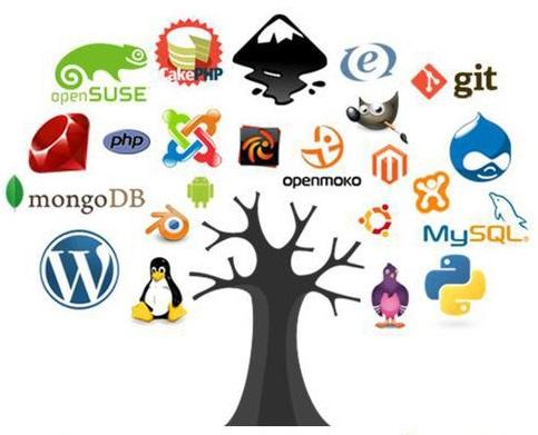 Малая часть проектов с открытым исходным кодом (источник — http://images.myshared.ru/10/993556/slide_4.jpg)