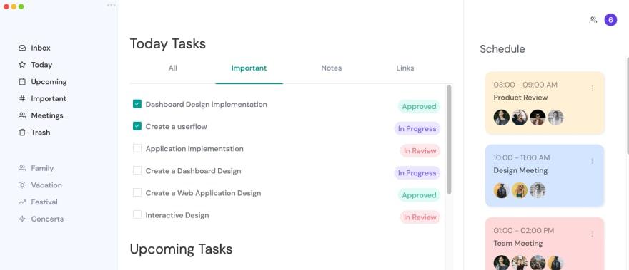 Панель управления задачами