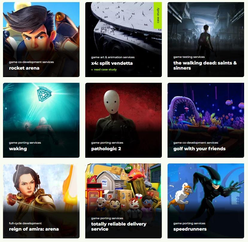 Проекты Pingle Game Studio