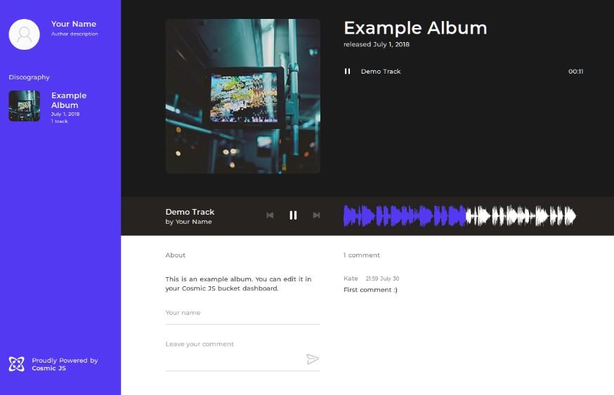 Веб-сайт музыкального исполнителя