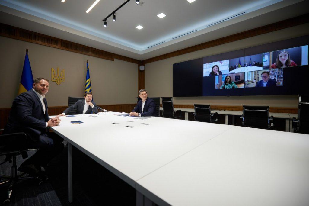 Видеоконференция Зеленского с представителями компании Facebook