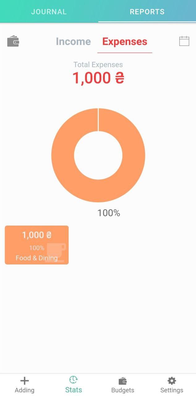 Интерфейс Android версии Finkee