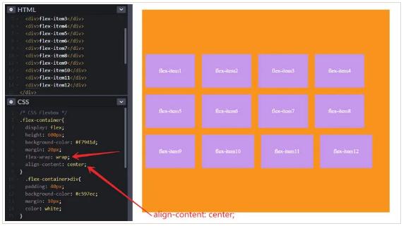 align-content: center